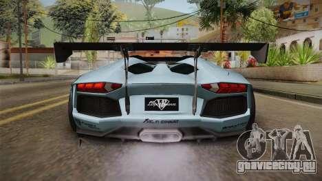 Lamborghini Aventador LP700-4 Roadster 2013 v2 для GTA San Andreas вид сверху
