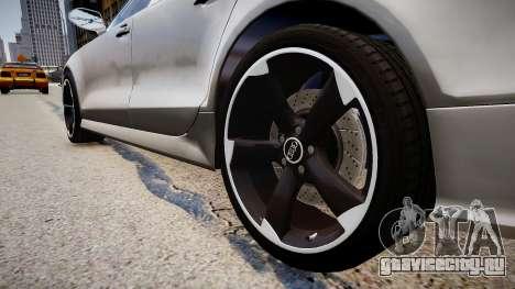 Audi RS7 2015 для GTA 4 вид сзади