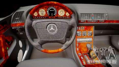 Mercedes-Benz S70 для GTA 4 вид изнутри