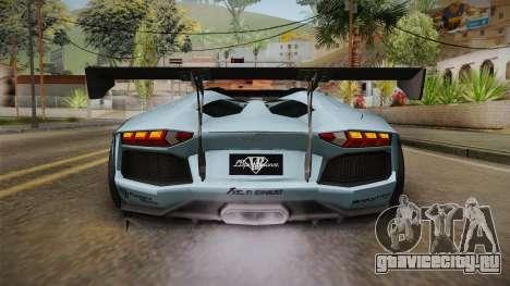 Lamborghini Aventador LP700-4 Roadster 2013 v2 для GTA San Andreas вид снизу