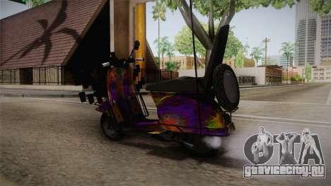 GTA 5 Pegassi Faggio Cool Tuning v1 для GTA San Andreas вид сзади слева
