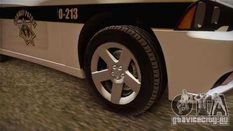 Dodge Charger 2013 SA Highway Patrol v1 для GTA San Andreas вид сзади