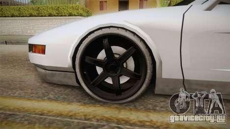 Modified Infernus для GTA San Andreas вид сзади