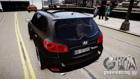 Hyundai Santa Fe для GTA 4 вид сзади слева
