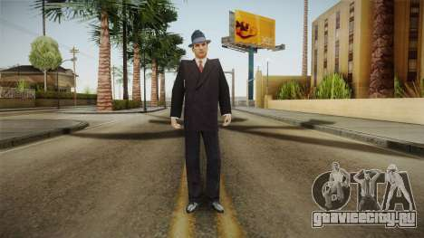 Mafia - Thomas Angelo Normal Suit and Hat для GTA San Andreas второй скриншот