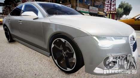 Audi RS7 2015 для GTA 4 вид справа