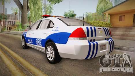 Chevrolet Impala Turkish Police для GTA San Andreas вид справа