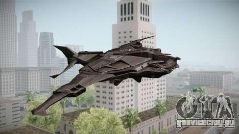 Batman Arkham Knight Batwing v1.0 для GTA San Andreas вид сзади слева