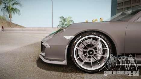 Porsche 911 R (991) 2017 v1.0 Green для GTA San Andreas вид сзади слева