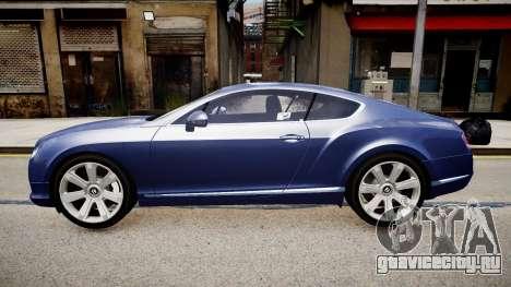 Bentley Continental GT 2011 [EPM] v1.0 для GTA 4 вид слева