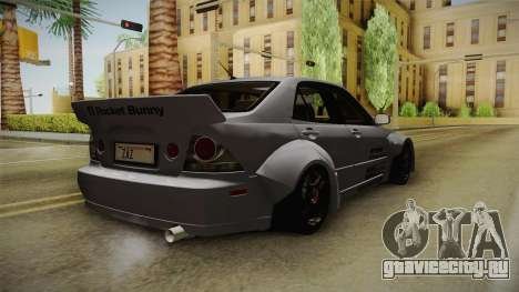 Lexus IS300 Rocket Bunny v2 для GTA San Andreas вид справа