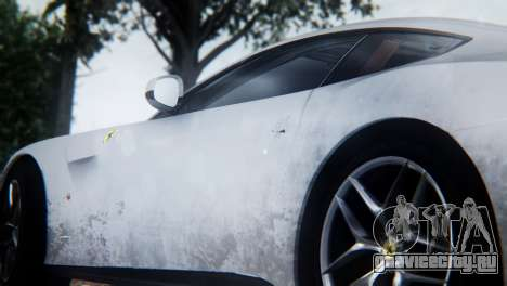 Ferrari F12 Berlinetta 2013 для GTA San Andreas вид изнутри