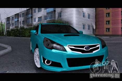 Subaru Legacy B4GT 2010 для GTA San Andreas