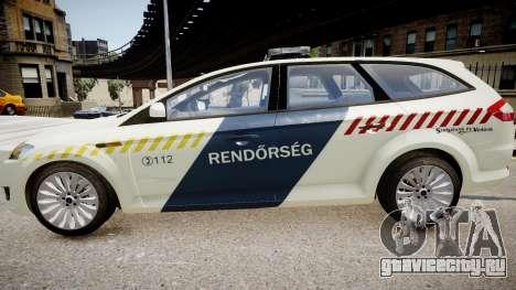Hungarian Ford Police Car для GTA 4 вид слева