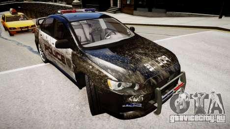 Mitsubishi Evo-IX Cop для GTA 4 вид справа