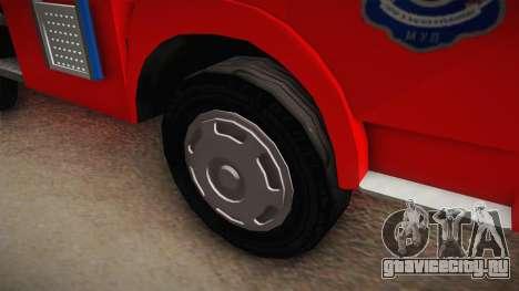 Zastava 640 Vatrogasci для GTA San Andreas вид сзади