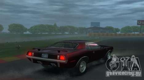 Plymouth Barracuda для GTA 4 вид сзади слева