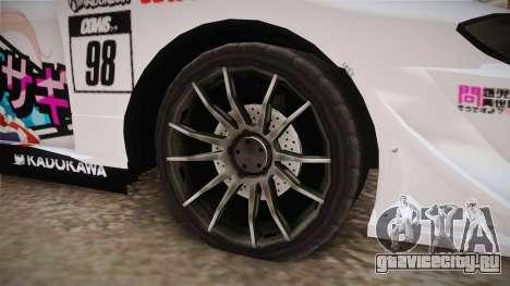 Nissan Silvia S15 Kurousagi Itasha для GTA San Andreas вид сзади