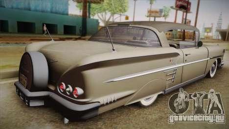 Chevrolet Impala Sport Coupe V8 1958 HQLM для GTA San Andreas вид слева