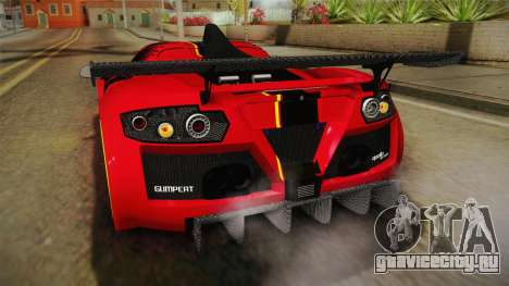 Gumpert Apollo Enraged для GTA San Andreas салон