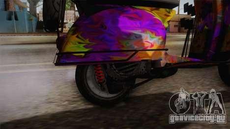 GTA 5 Pegassi Faggio Cool Tuning v1 для GTA San Andreas вид сзади