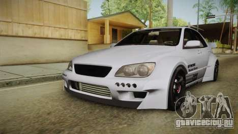 Lexus IS300 Rocket Bunny v2 для GTA San Andreas вид сзади слева