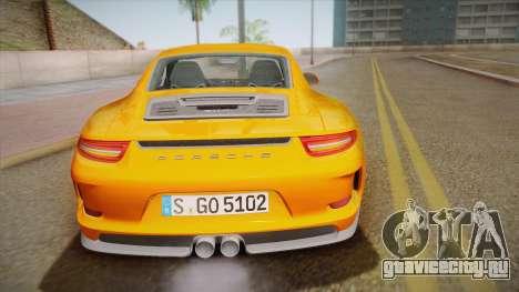 Porsche 911 R (991) 2017 v1.0 для GTA San Andreas вид сверху