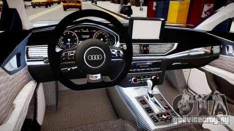Audi RS7 2015 для GTA 4 вид изнутри