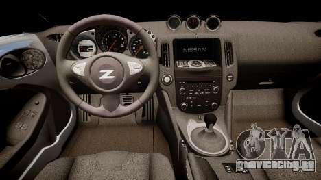 Nissan 370Z Sport для GTA 4 вид изнутри