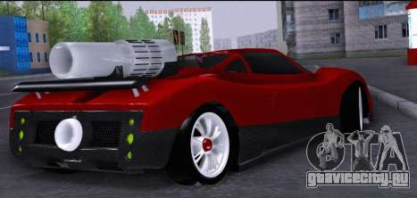 Pagani Zonda Revolucion 2016 для GTA San Andreas вид сзади слева