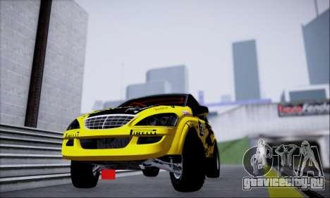 SsangYong Kyron 2 Rally Dacar для GTA San Andreas вид сзади