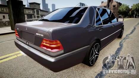 Mercedes-Benz S70 для GTA 4 вид сзади слева