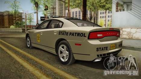 Dodge Charger 2012 SA State Patrol для GTA San Andreas вид слева