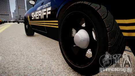 Dodge Challenger Liberty Sheriff 2010 для GTA 4 вид сзади