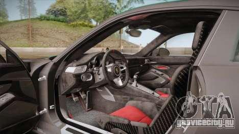 Porsche 911 R (991) 2017 v1.0 Green для GTA San Andreas вид сбоку