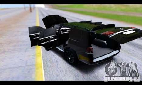 Toyota Land Cruiser 200 2016 для GTA San Andreas вид сбоку