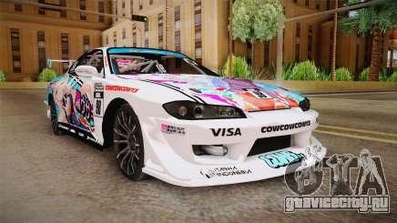 Nissan Silvia S15 Kurousagi Itasha для GTA San Andreas