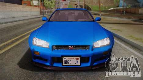 Nissan Skyline R34 14th Street для GTA San Andreas вид справа