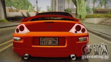 Mitsubishi Eclipse GTS Mk.III 2003 IVF для GTA San Andreas вид изнутри