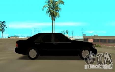 Mercedes-Benz 600SEL W140 для GTA San Andreas вид слева