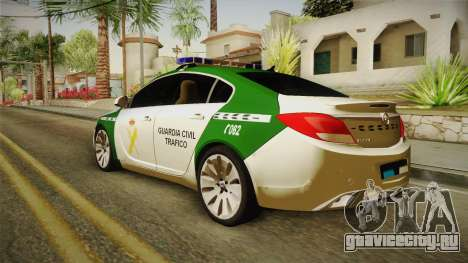 Opel Insignia Guardia Civil Tráfico для GTA San Andreas вид слева