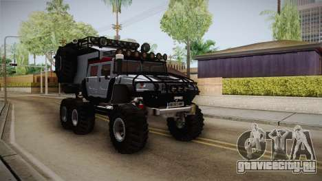 Hummer H1 Monster для GTA San Andreas вид справа