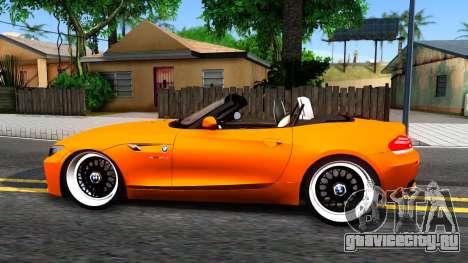 BMW Z4 sDrive35is для GTA San Andreas вид слева