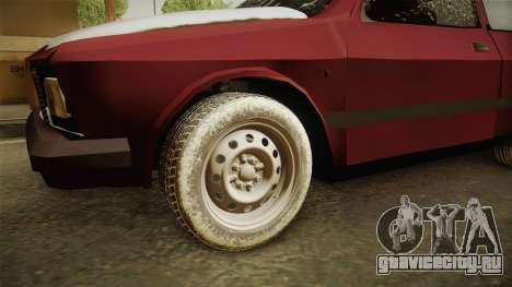 Yugo Koral 55 Winter для GTA San Andreas вид сзади