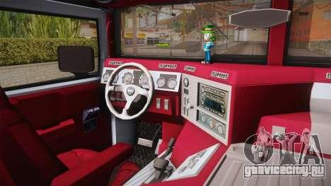 Hummer H1 Monster для GTA San Andreas вид изнутри