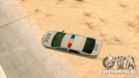 Renault Logan ГИБДД для GTA San Andreas вид сзади