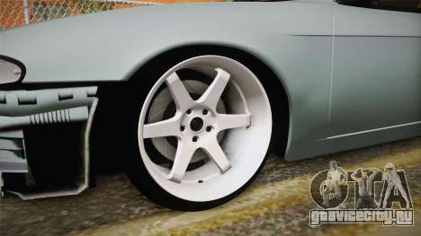 Nissan Silvia S14 Drift v2 для GTA San Andreas вид сзади