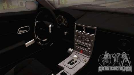 Chrysler Crossfire SRT-6 2006 для GTA San Andreas вид изнутри