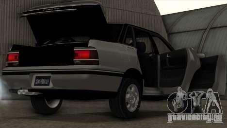 Subaru Legacy RS для GTA San Andreas вид снизу