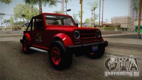 GTA 5 Canis Mesa Jurassic Park для GTA San Andreas вид сзади